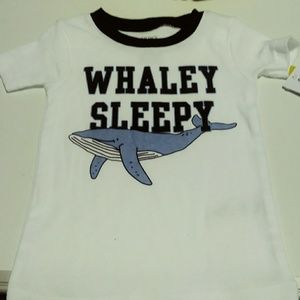 Carters whale themed 3 piece cotton pajama set
